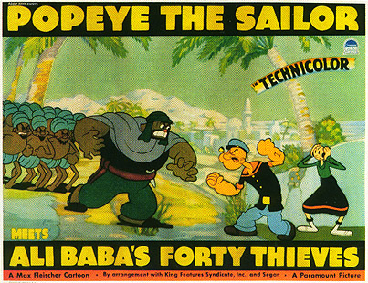 popeye meets ali baba poster